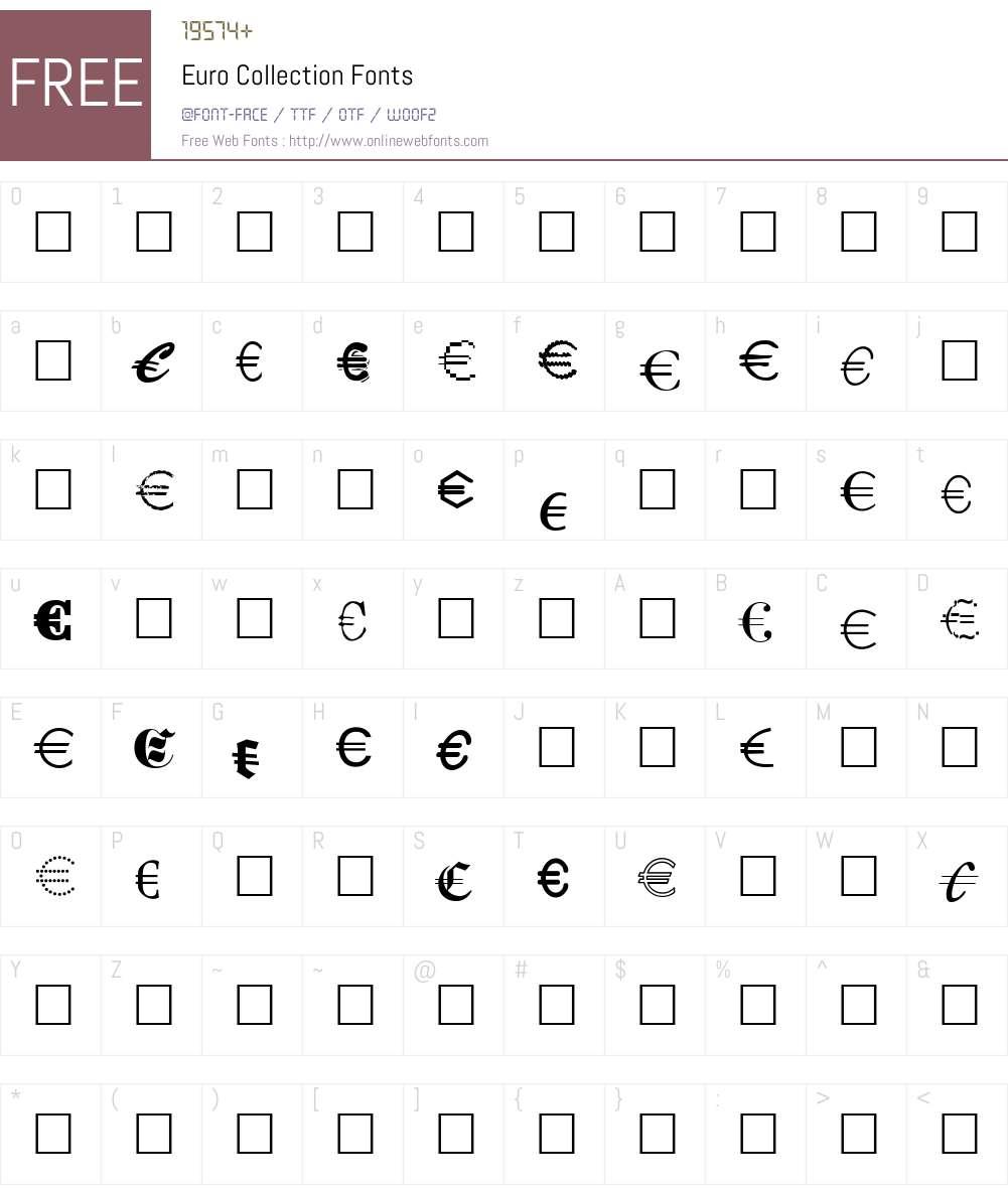 Euro Collection Font Screenshots