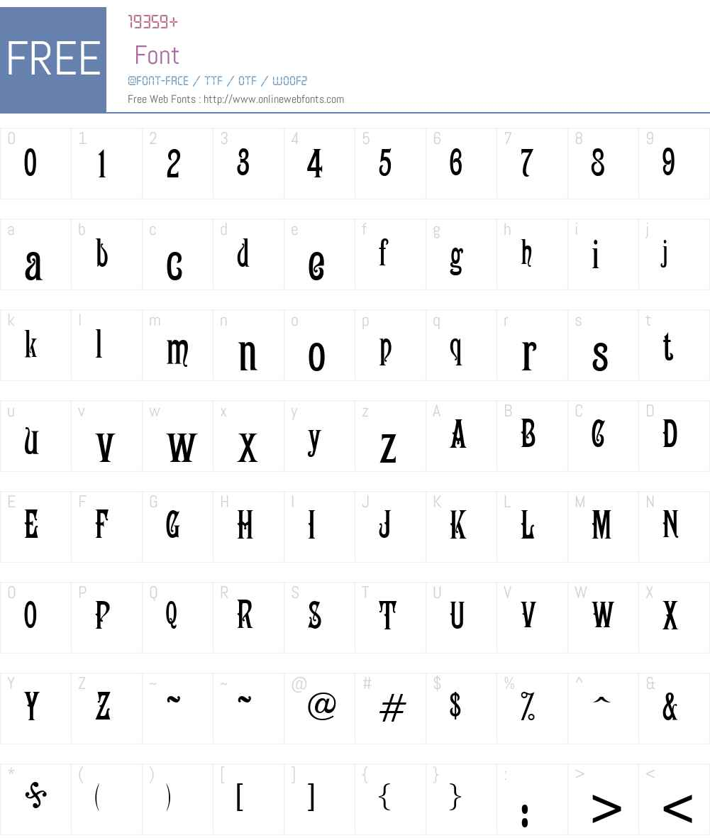 Campanile Font Screenshots