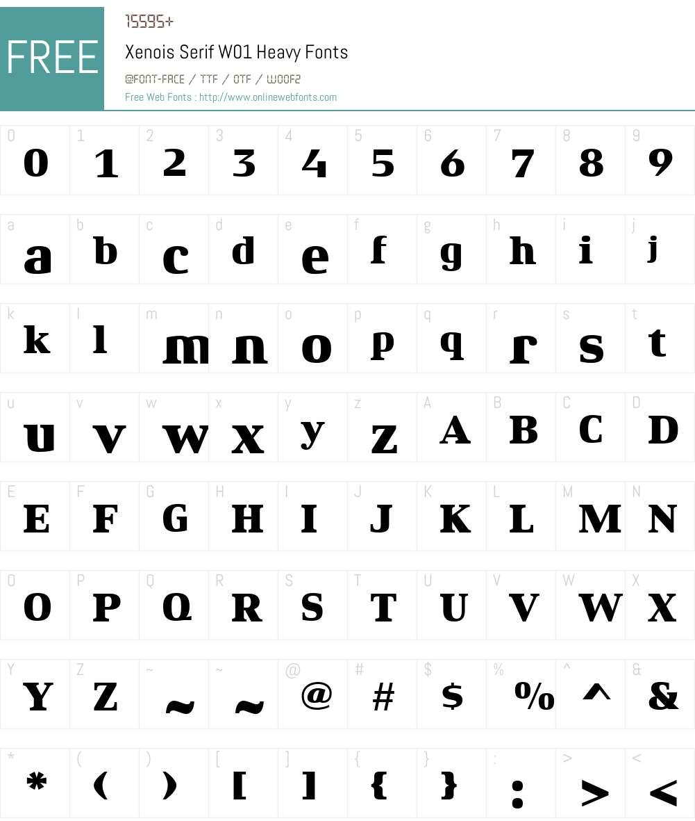 XenoisSerifW01-Heavy Font Screenshots