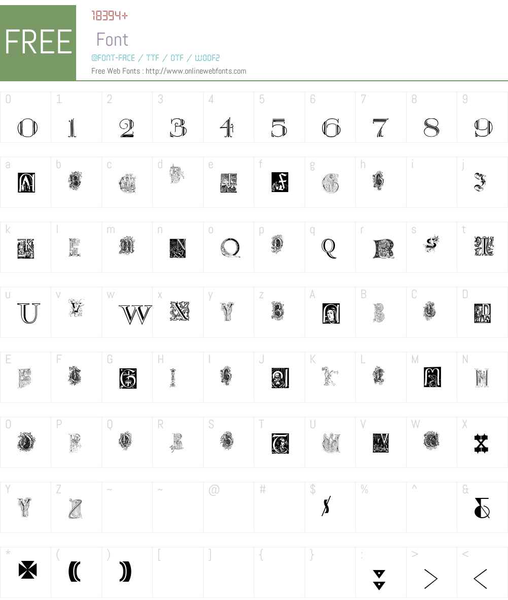 Kidnapped at Old Times Free Five Font Screenshots