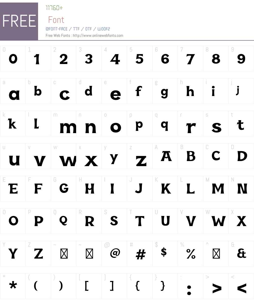 KaraW01-Display Font Screenshots