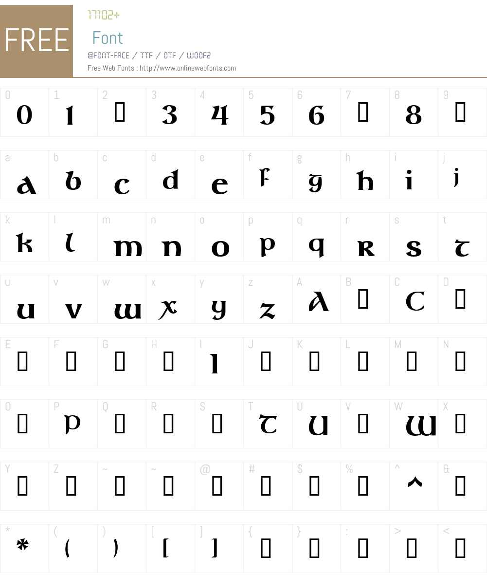 GandalfEL-Bold Font Screenshots