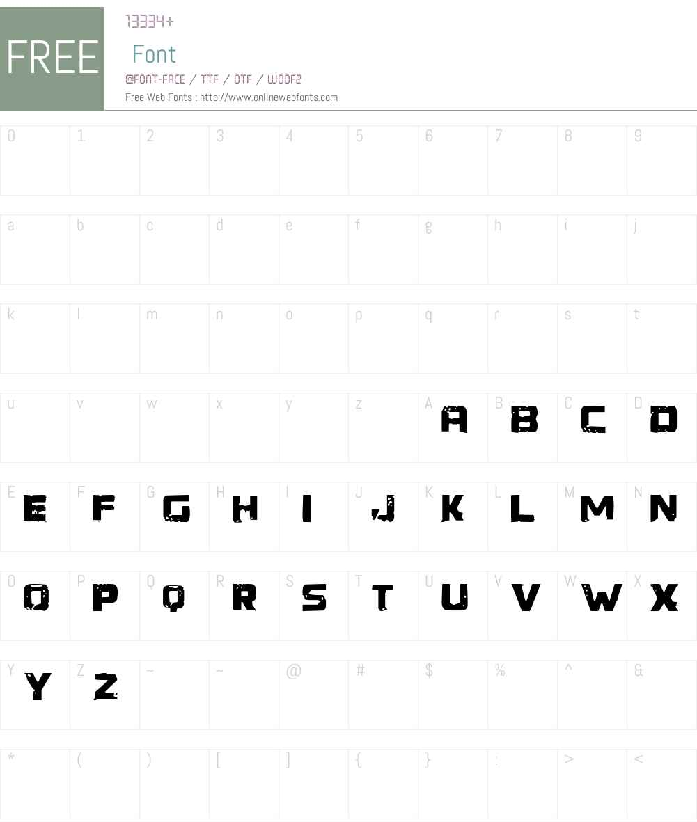 Generator REX Font Screenshots