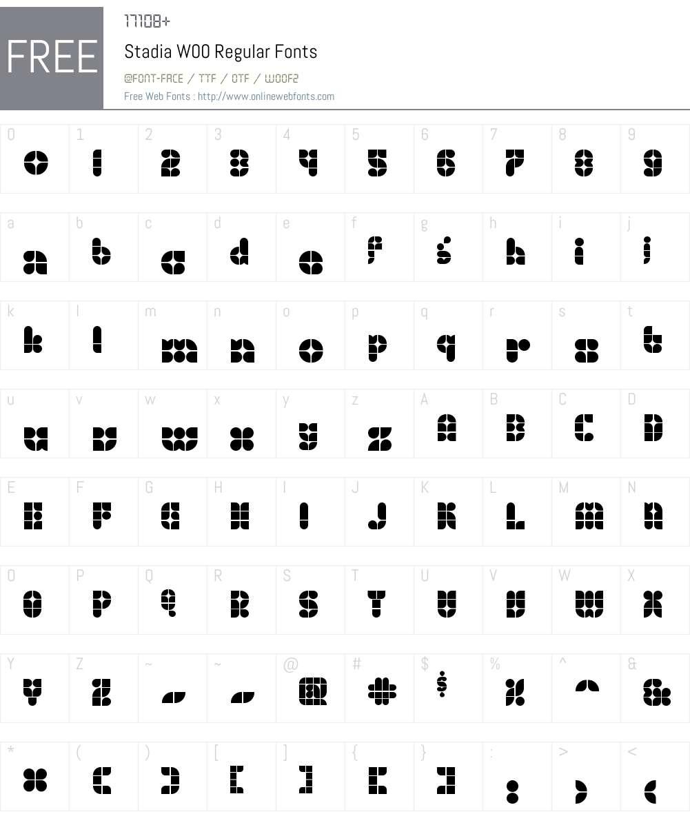 StadiaW00-Regular Font Screenshots