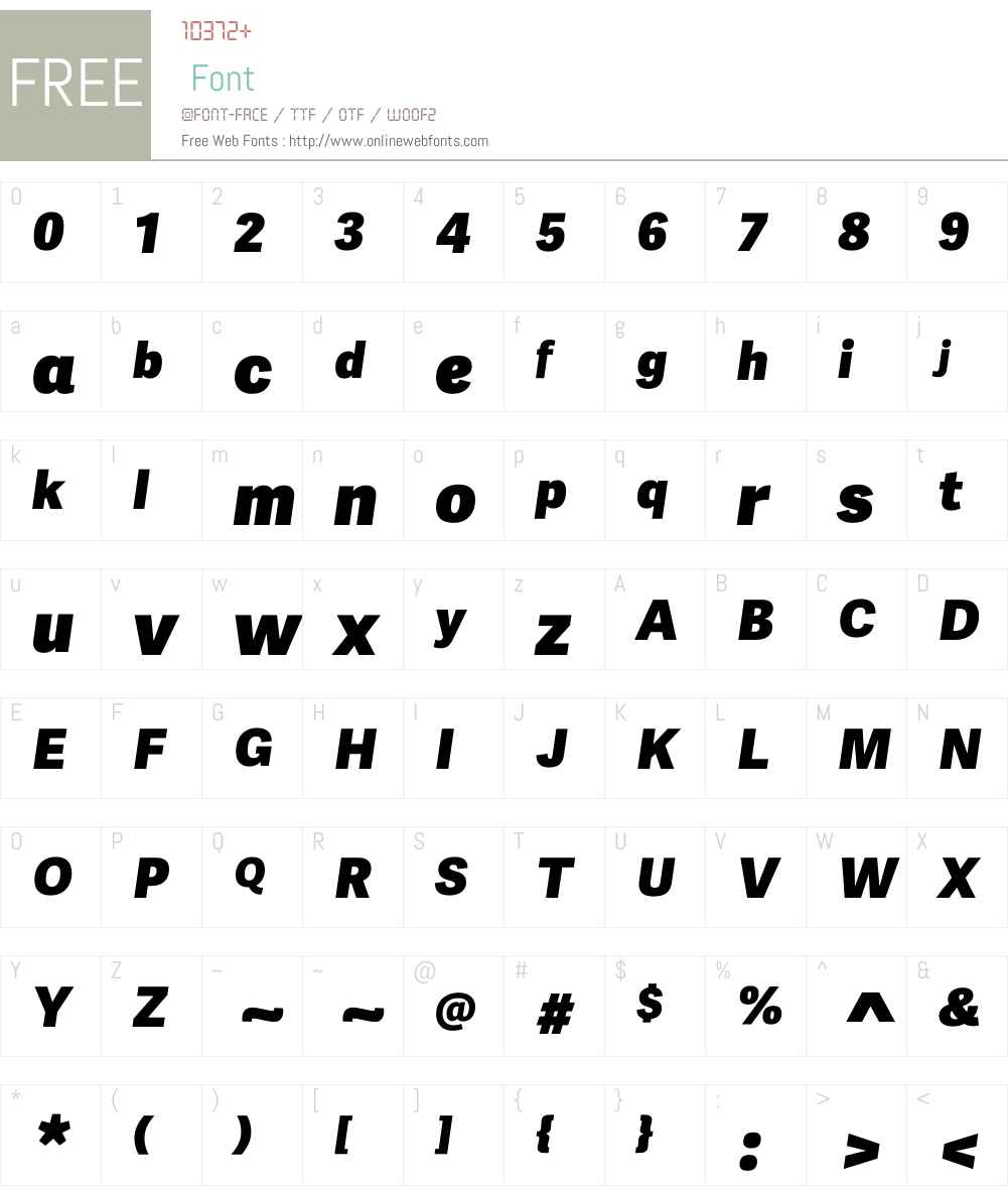AdelleSansW01-HeavyItalic Font Screenshots