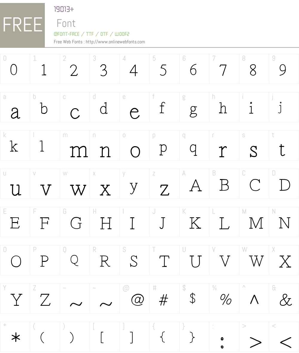 Lettertiep Font Screenshots