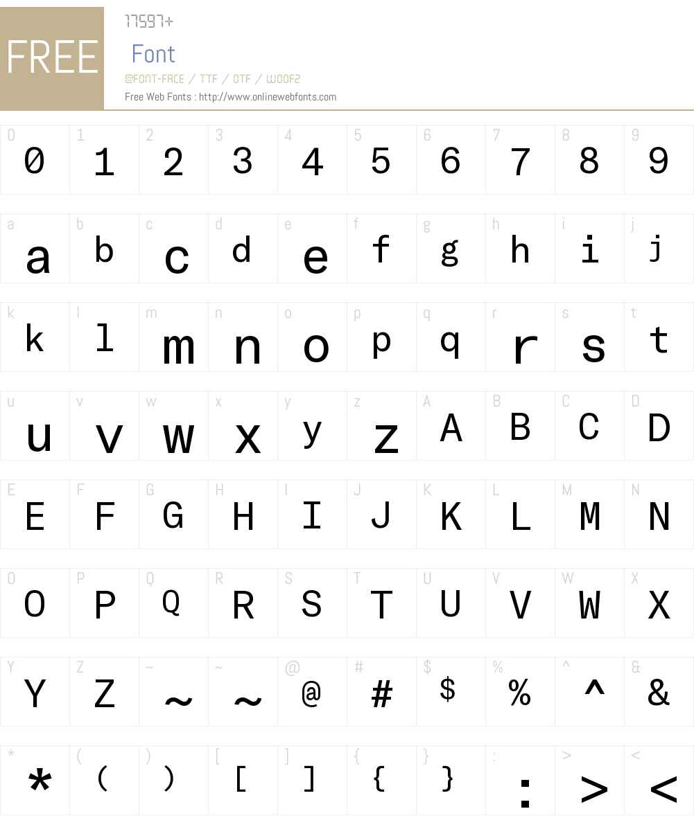 GT America Mono Font Screenshots