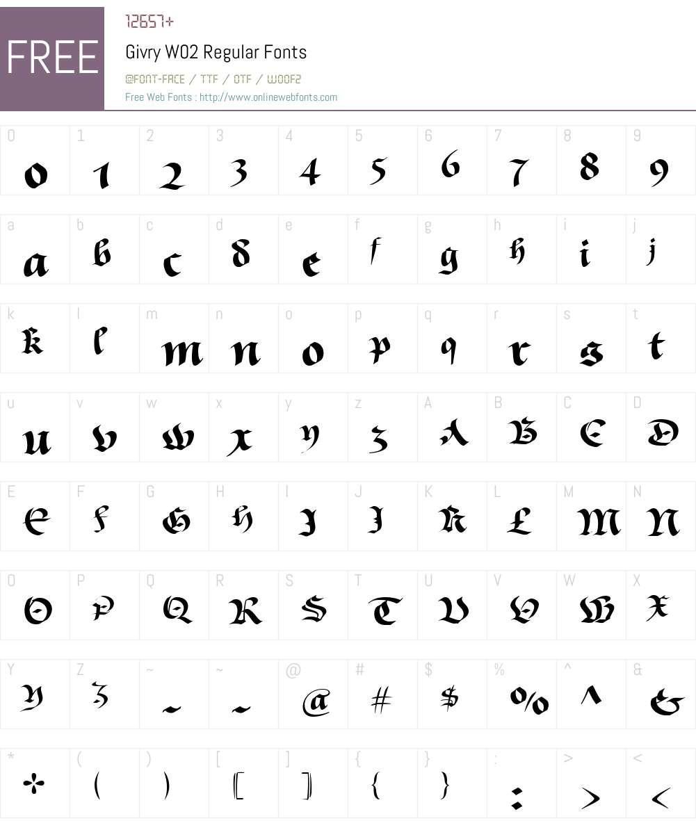 Givry Font Screenshots