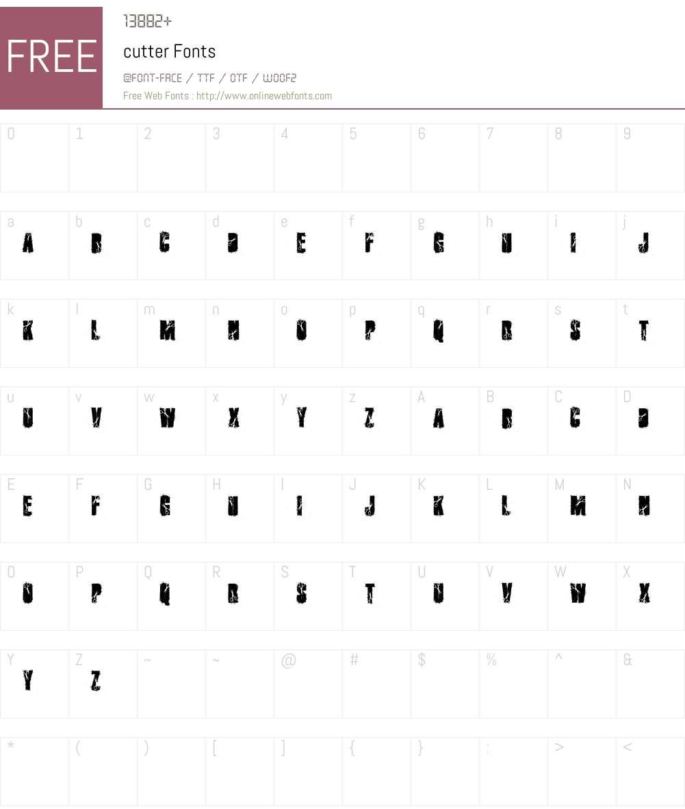 cutter Font Screenshots