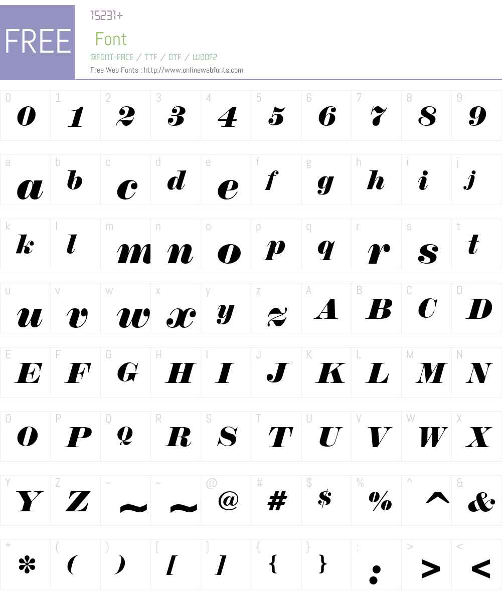Normande Font Screenshots