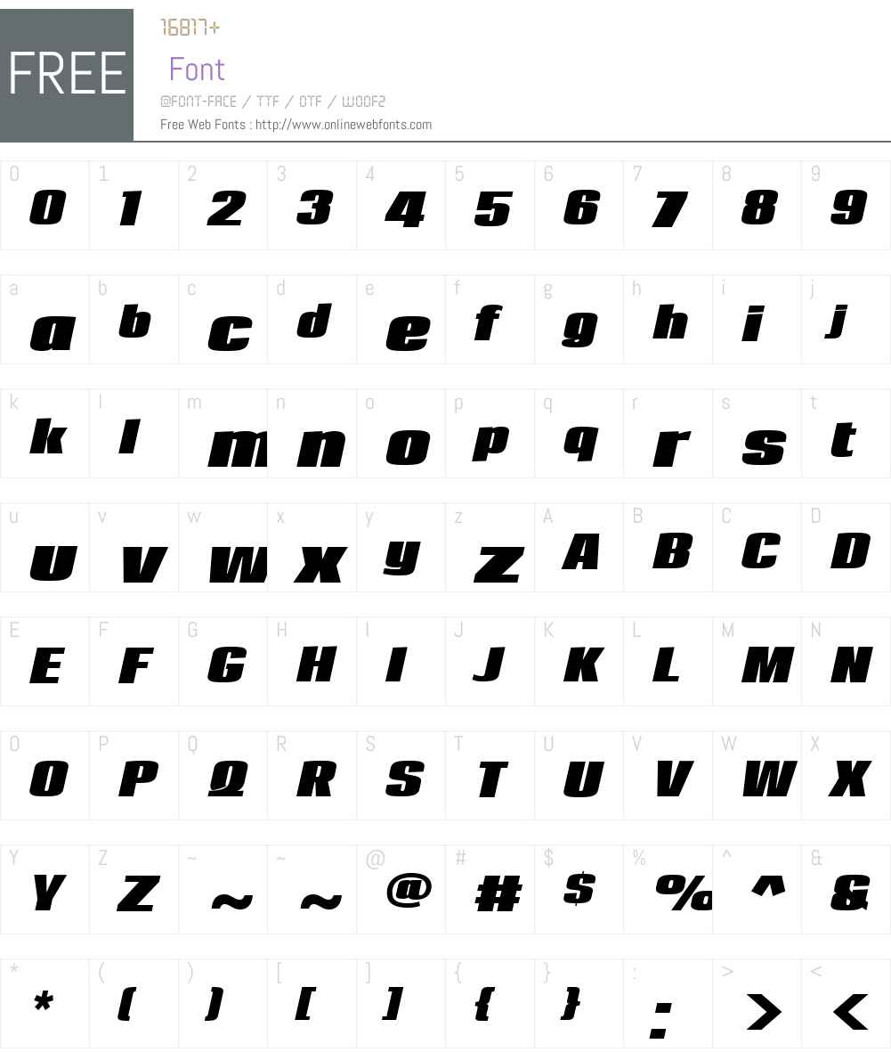LoftW01-BoldItalic Font Screenshots
