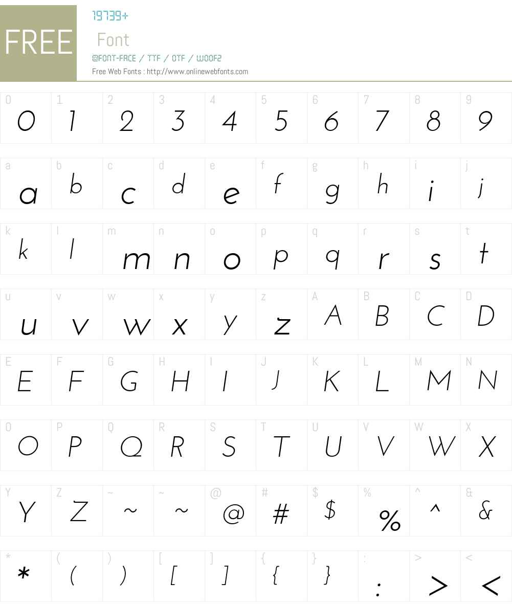 Josefin Sans Font Screenshots
