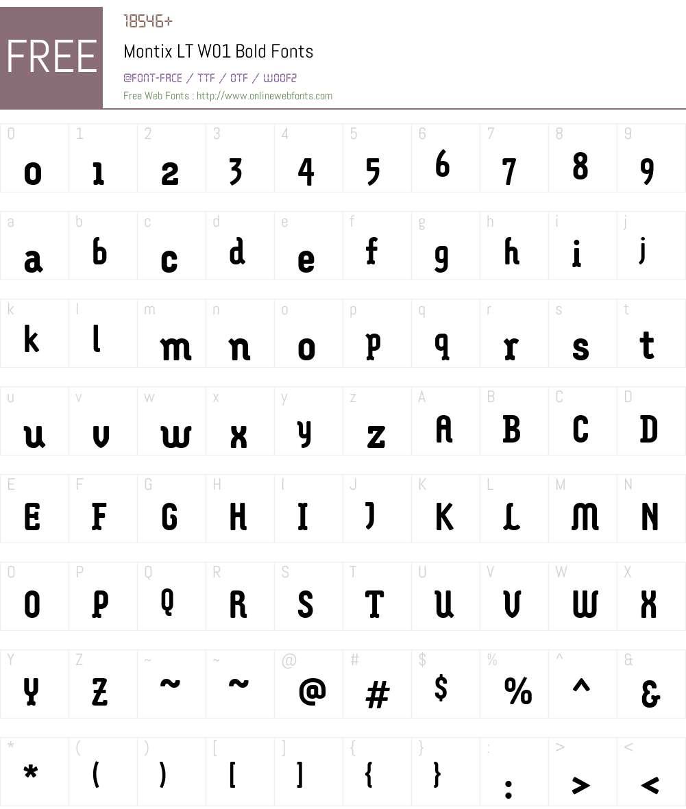 MontixLTW01-Bold Font Screenshots