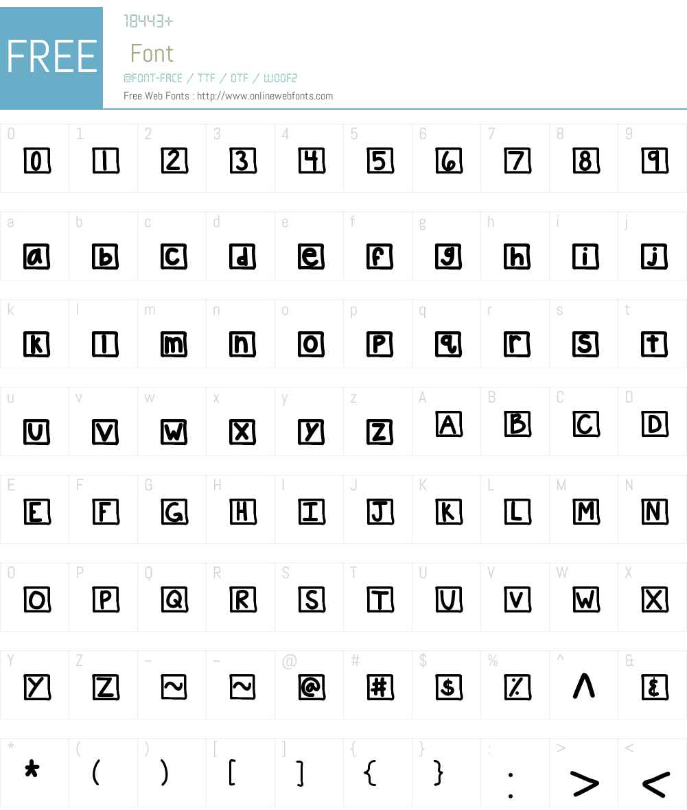 KBChatterBox Font Screenshots