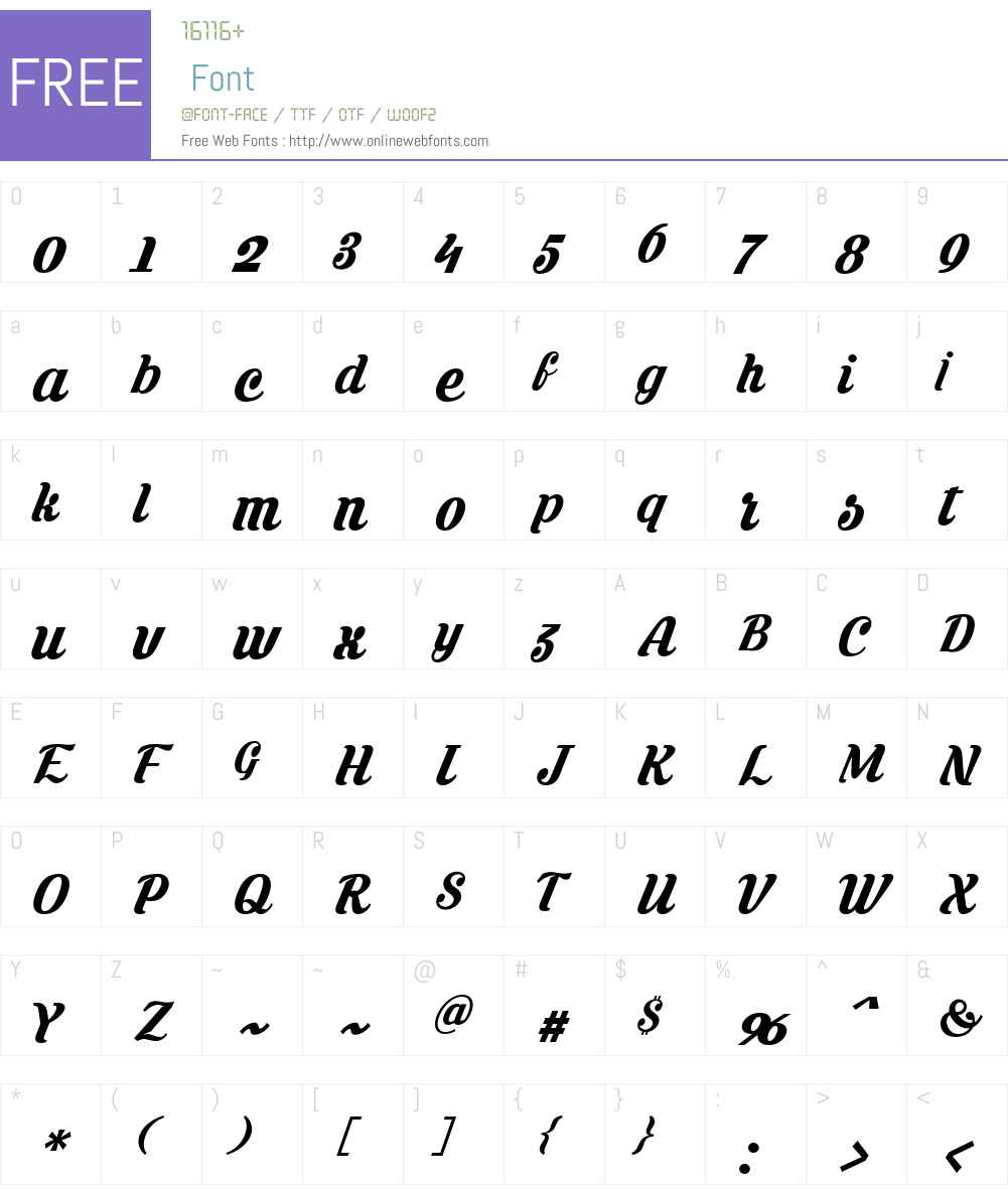 Krinkes Font Screenshots