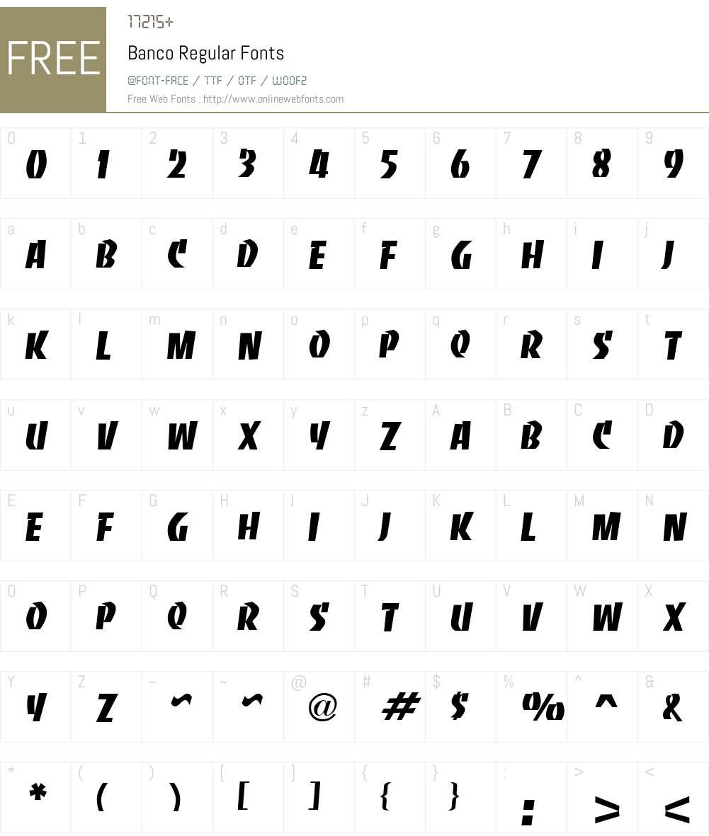 Banco Font Screenshots