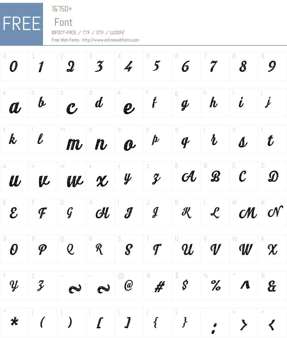 LookScriptW01-JeanBold Font Screenshots