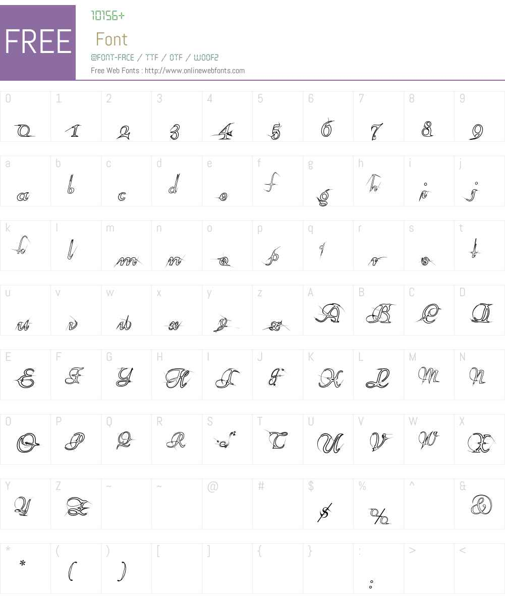 AraneaEF Font Screenshots