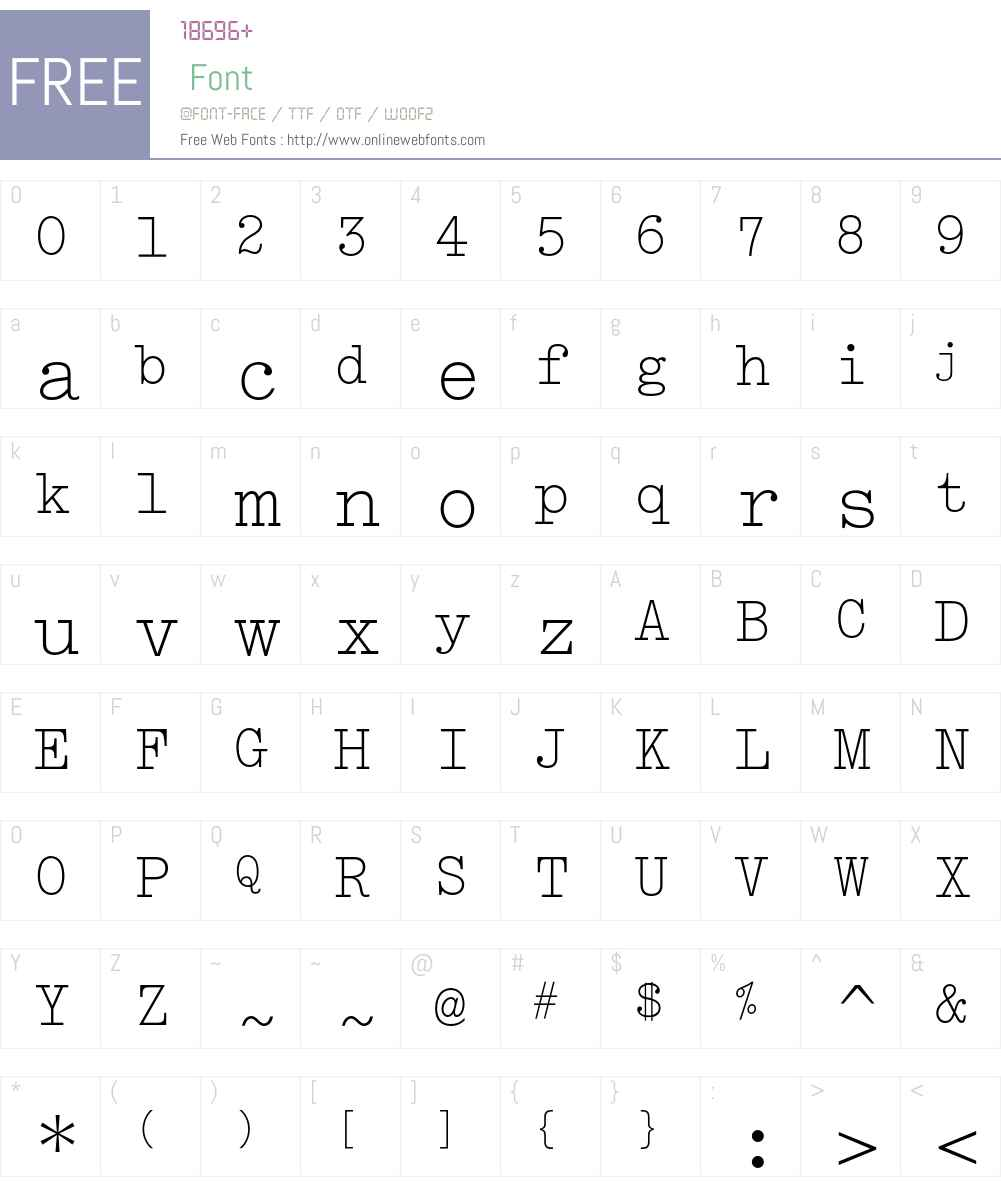 Typewriter Elite MT Std Font Screenshots