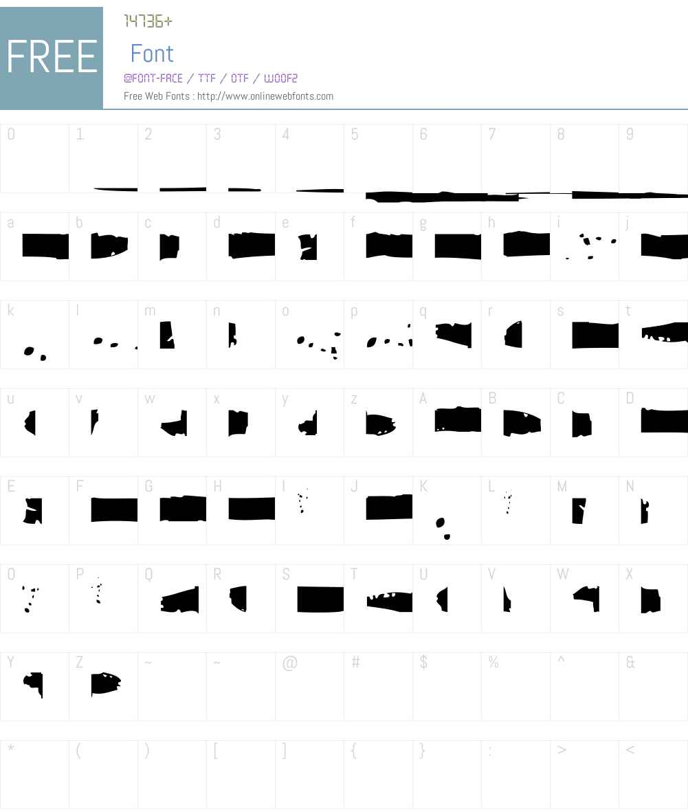 HaakkeW95-Spatters Font Screenshots
