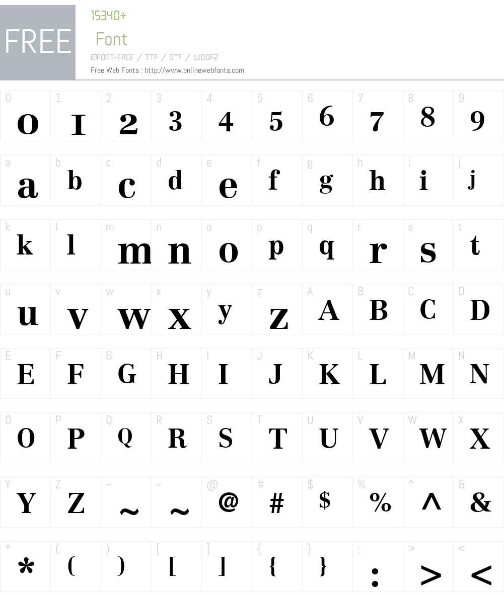 Century Reprise OldStyle SSi Font Screenshots