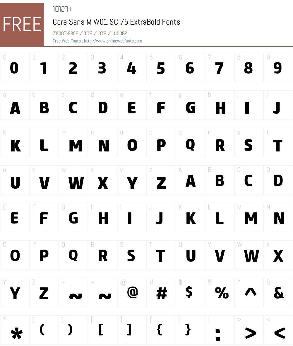 CoreSansMW01-SC75ExtraBold Font Screenshots