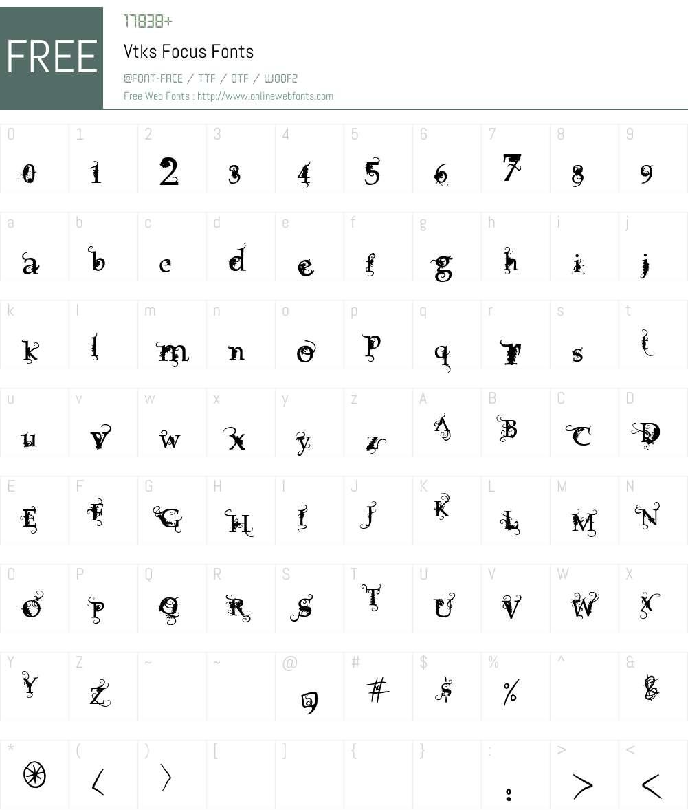 Vtks Focus Font Screenshots