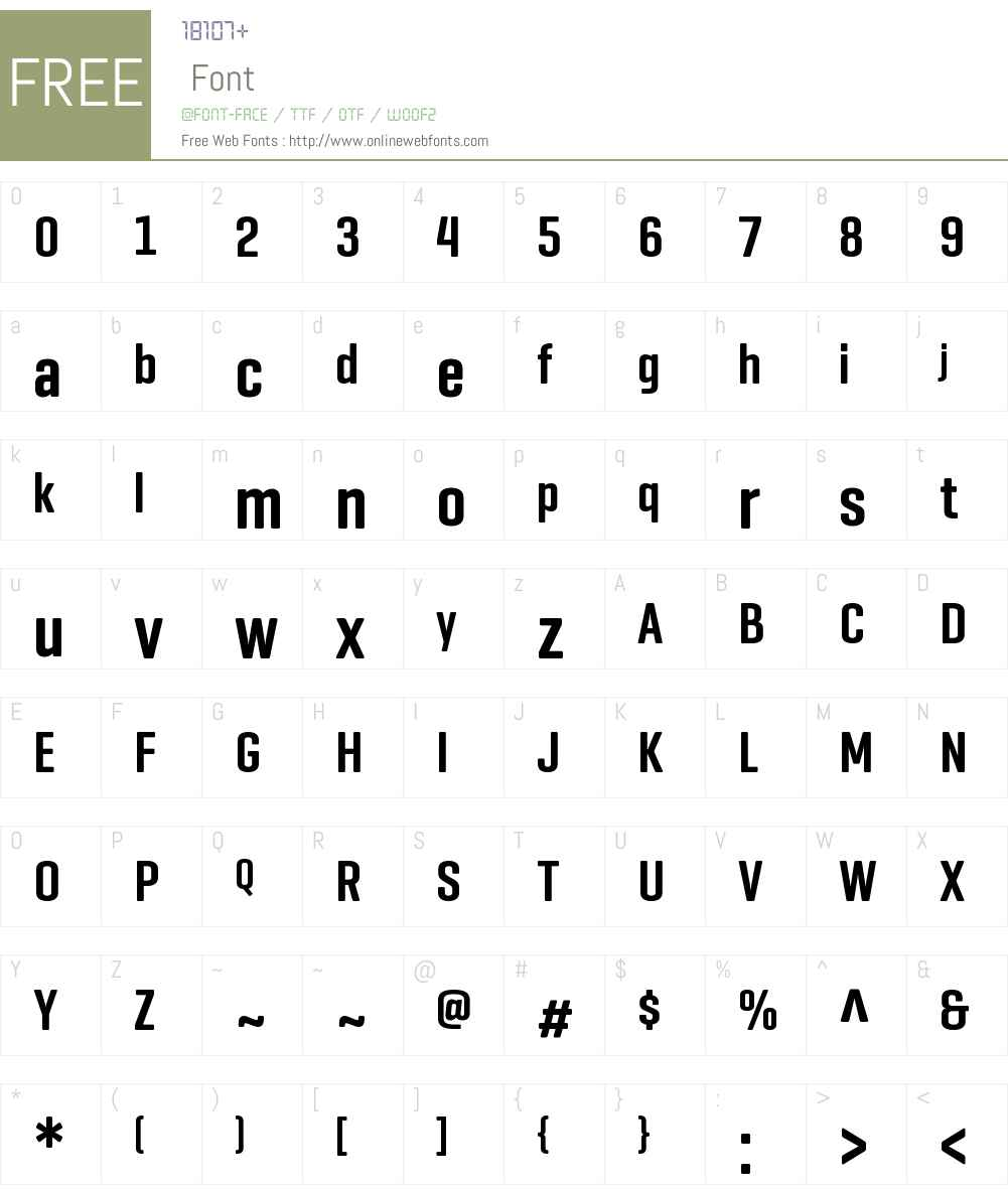 Geogrotesque Comp Font Screenshots