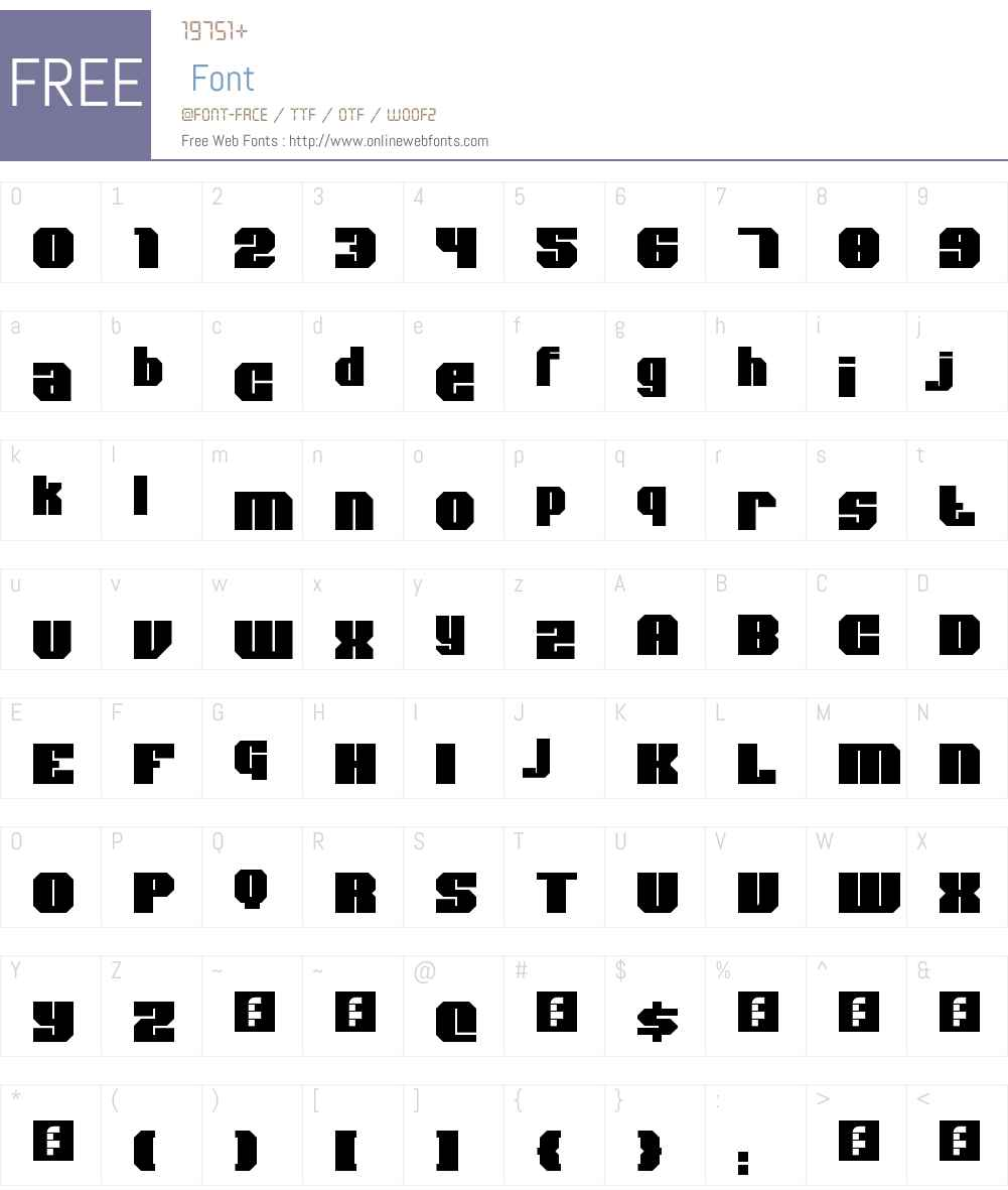 Bold Type Font Screenshots