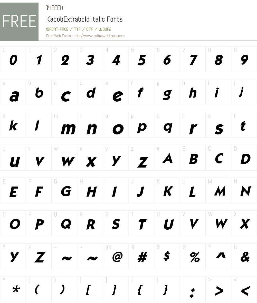 KabobExtrabold Font Screenshots