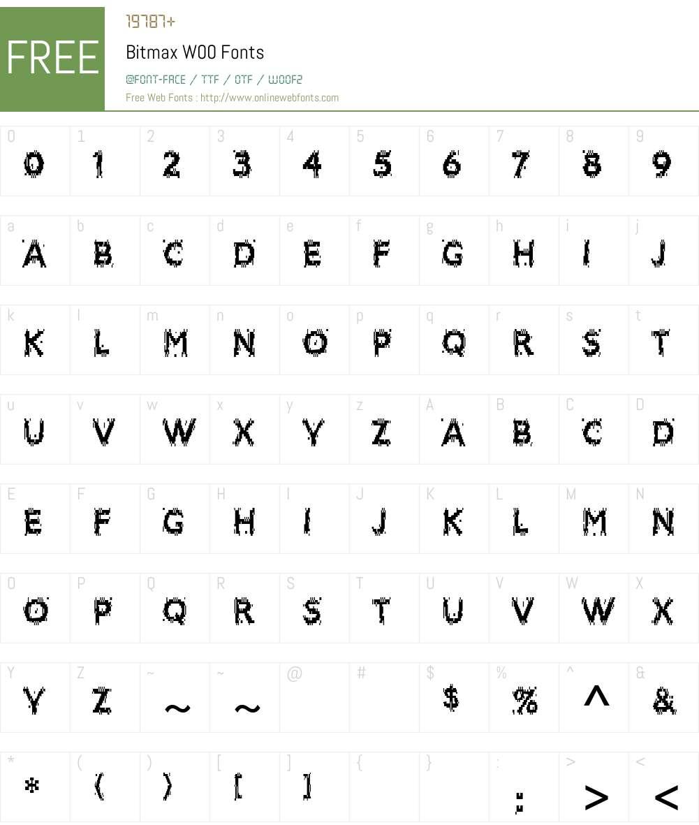 BitmaxW00 Font Screenshots