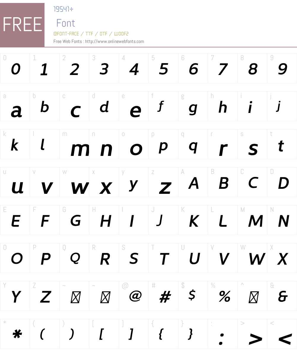 KyrialDisplayW01-SemiBoldIt Font Screenshots