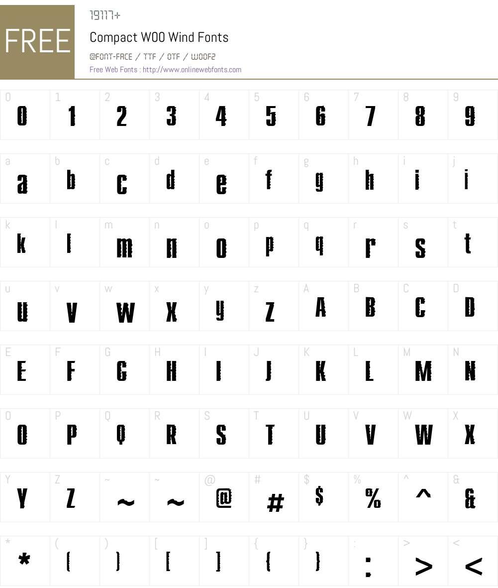 CompactW00-Wind Font Screenshots