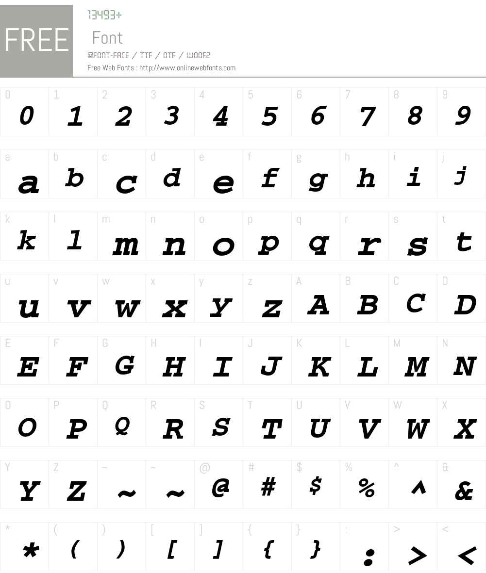 Courier Font Screenshots