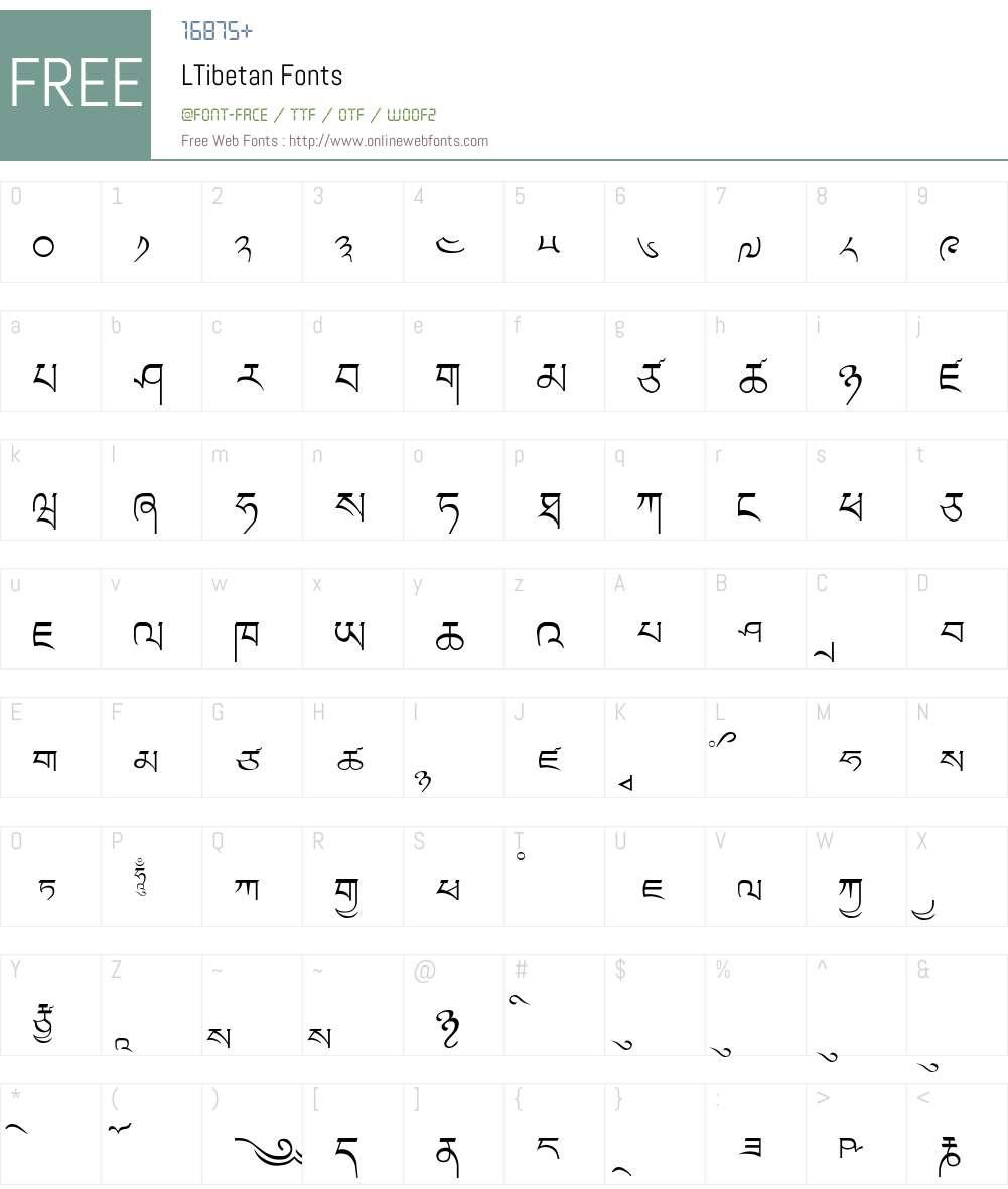 LTibetan Font Screenshots
