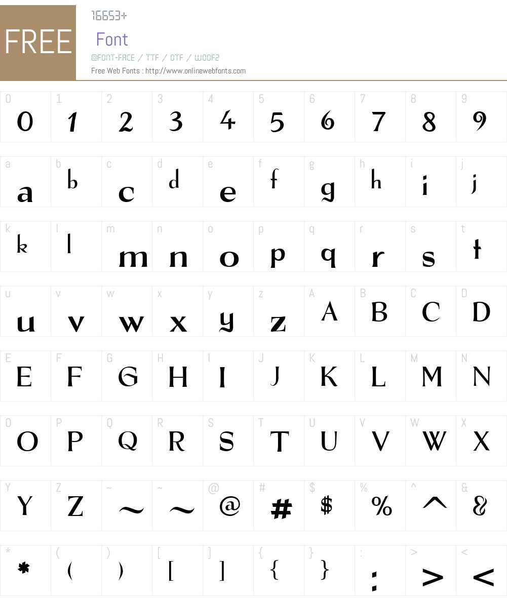 The Real Font Font Screenshots