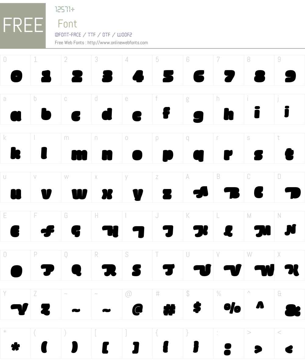 FattaBlackSwashW00-Italic Font Screenshots