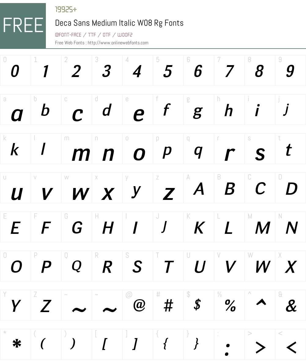 Deca Sans Font Screenshots
