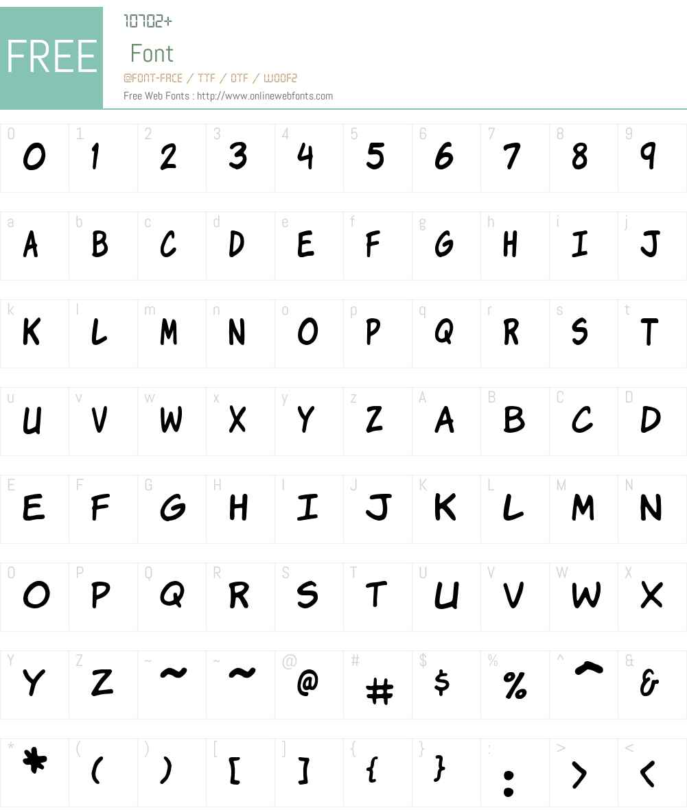 Komika Jam Font Screenshots