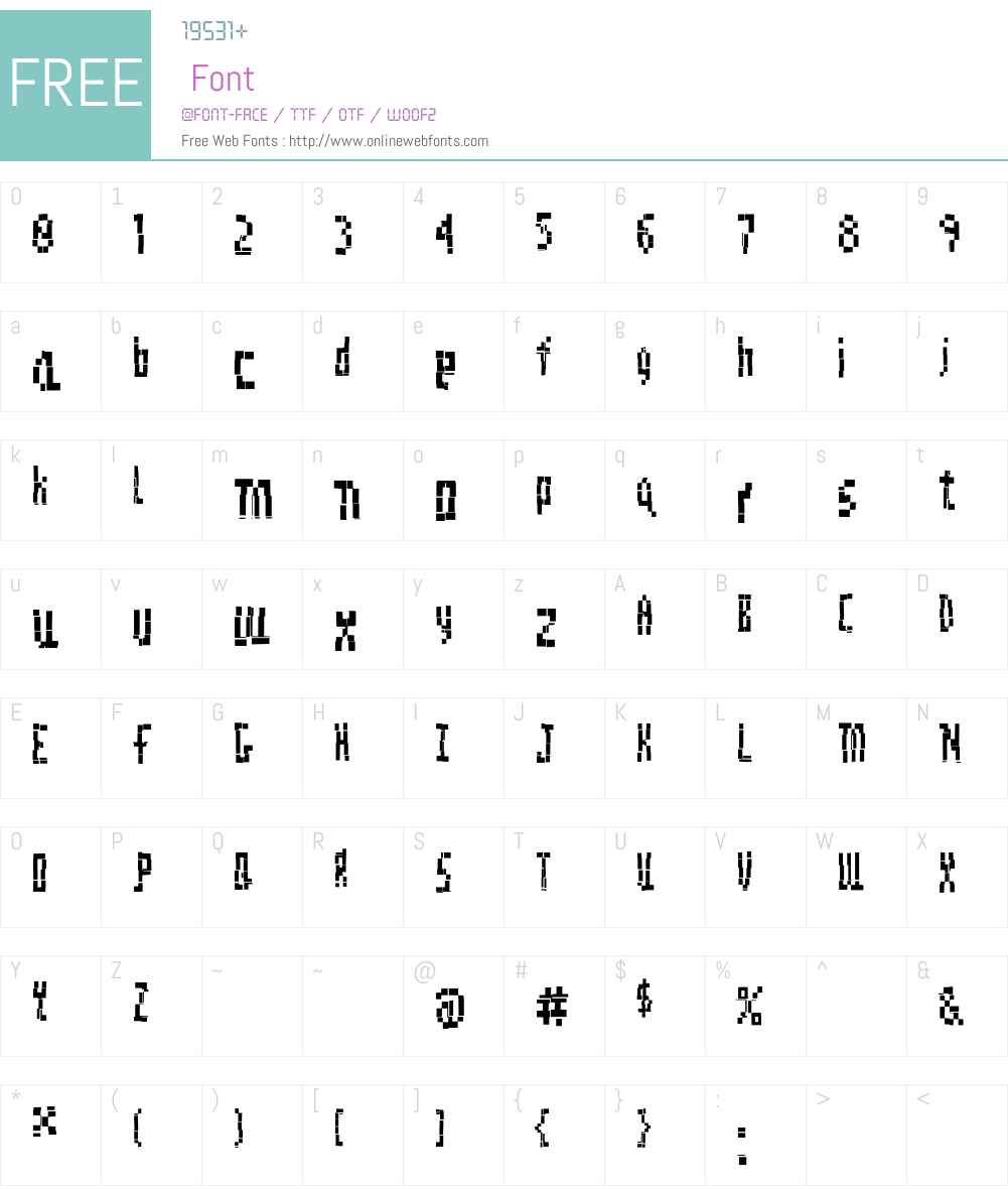 DigitalDecay Font Screenshots