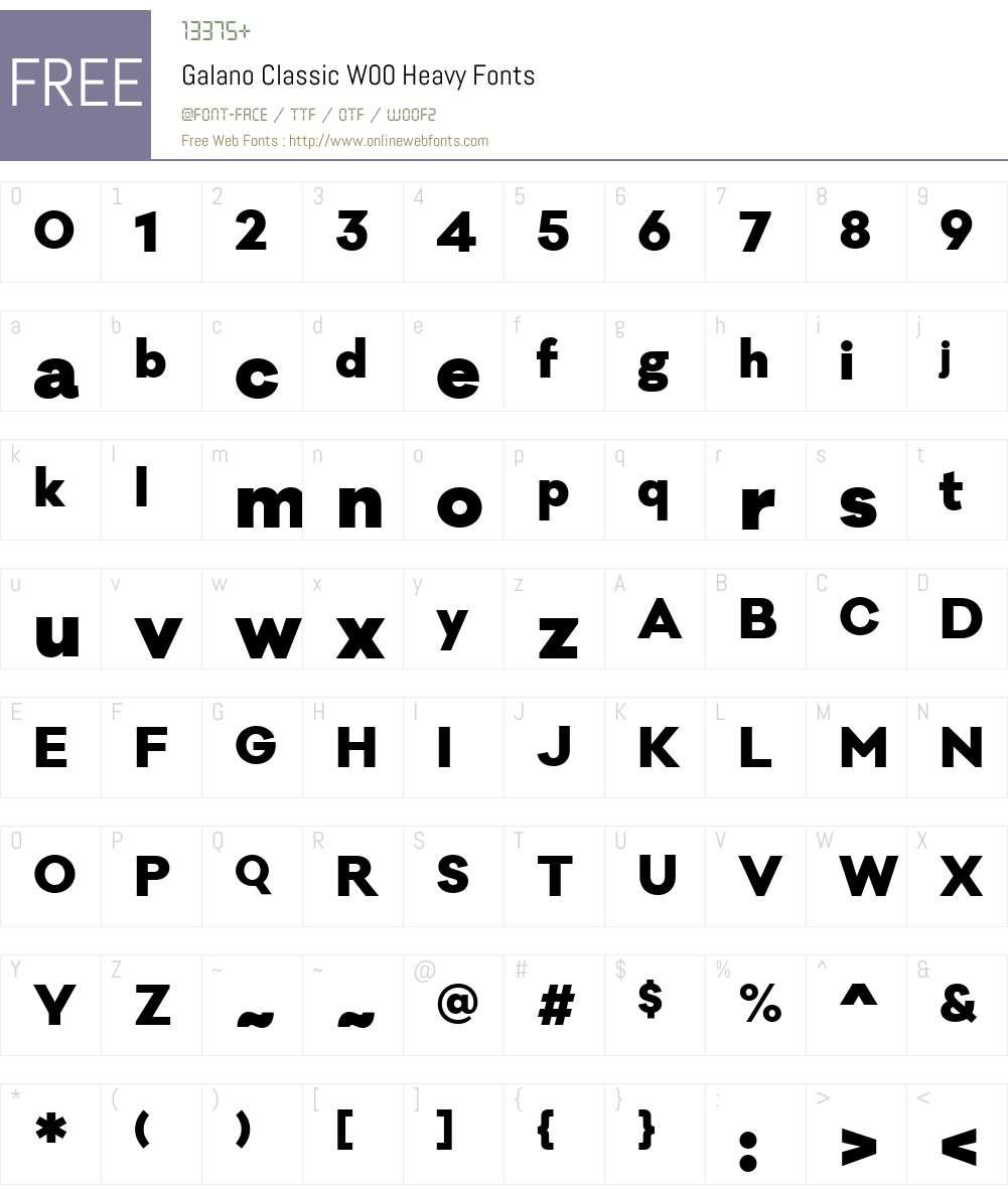 GalanoClassicW00-Heavy Font Screenshots