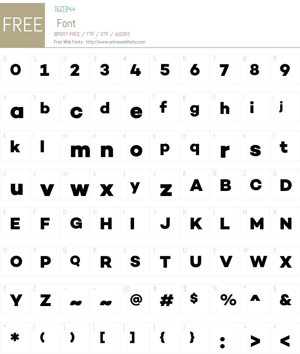 CamptonW00-ExtraBold Font Screenshots