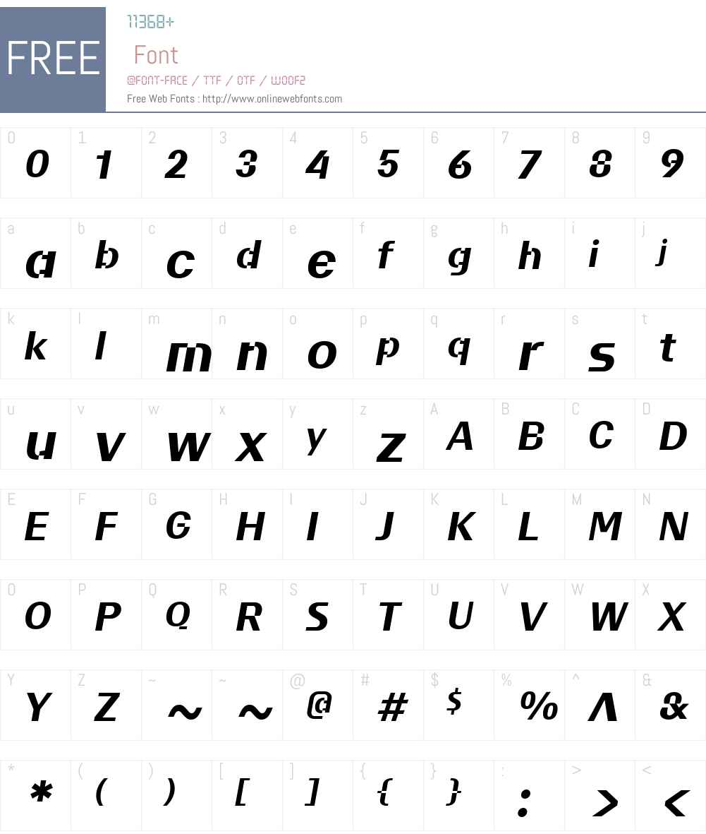 BC Liguria B Test B Font Screenshots