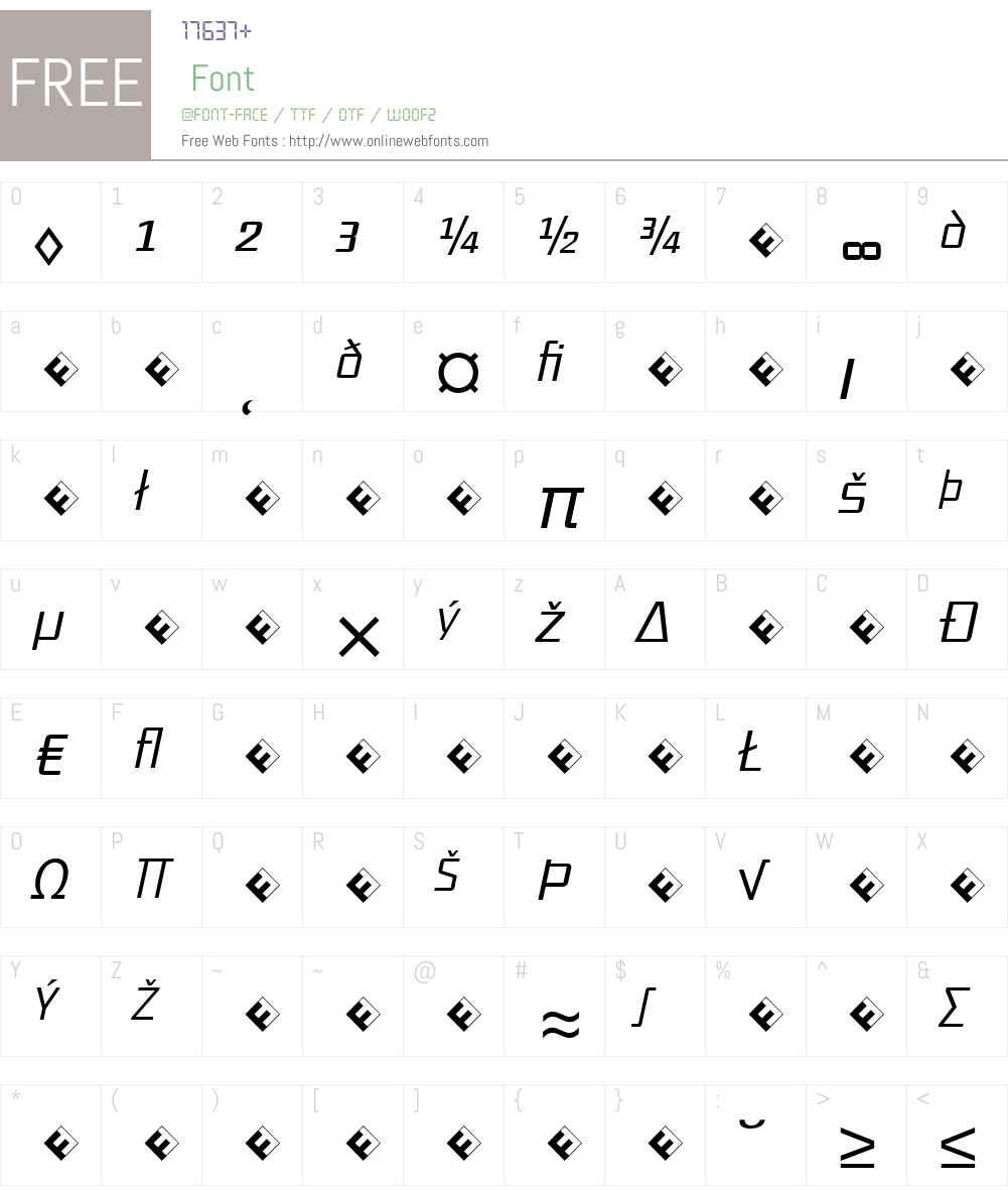 District-LightItalicExp Font Screenshots