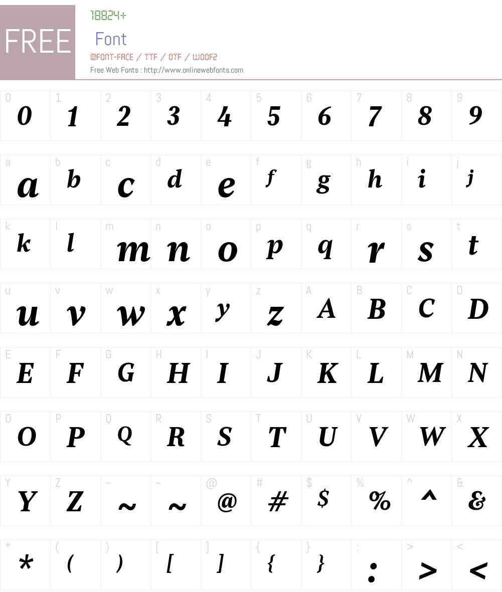 Rubis-BoldItalic Font Screenshots