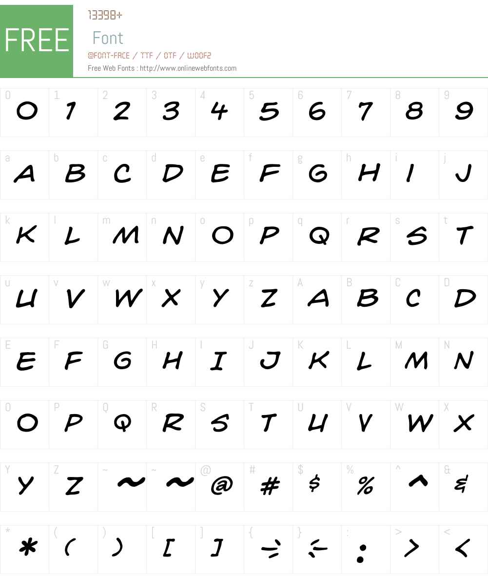 CCHedgeBackwardsW00-Italic Font Screenshots