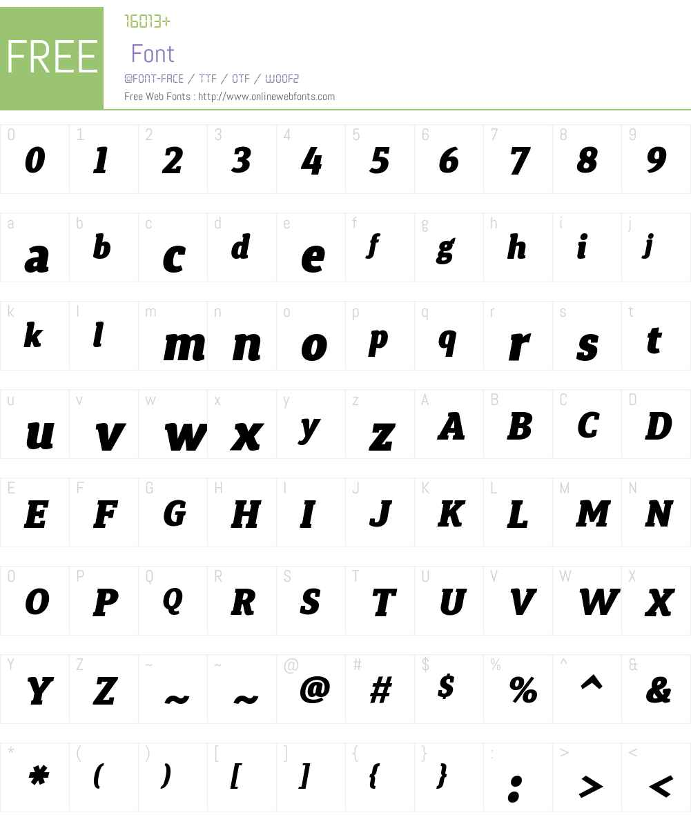 SynergaW01-BlackItalic Font Screenshots