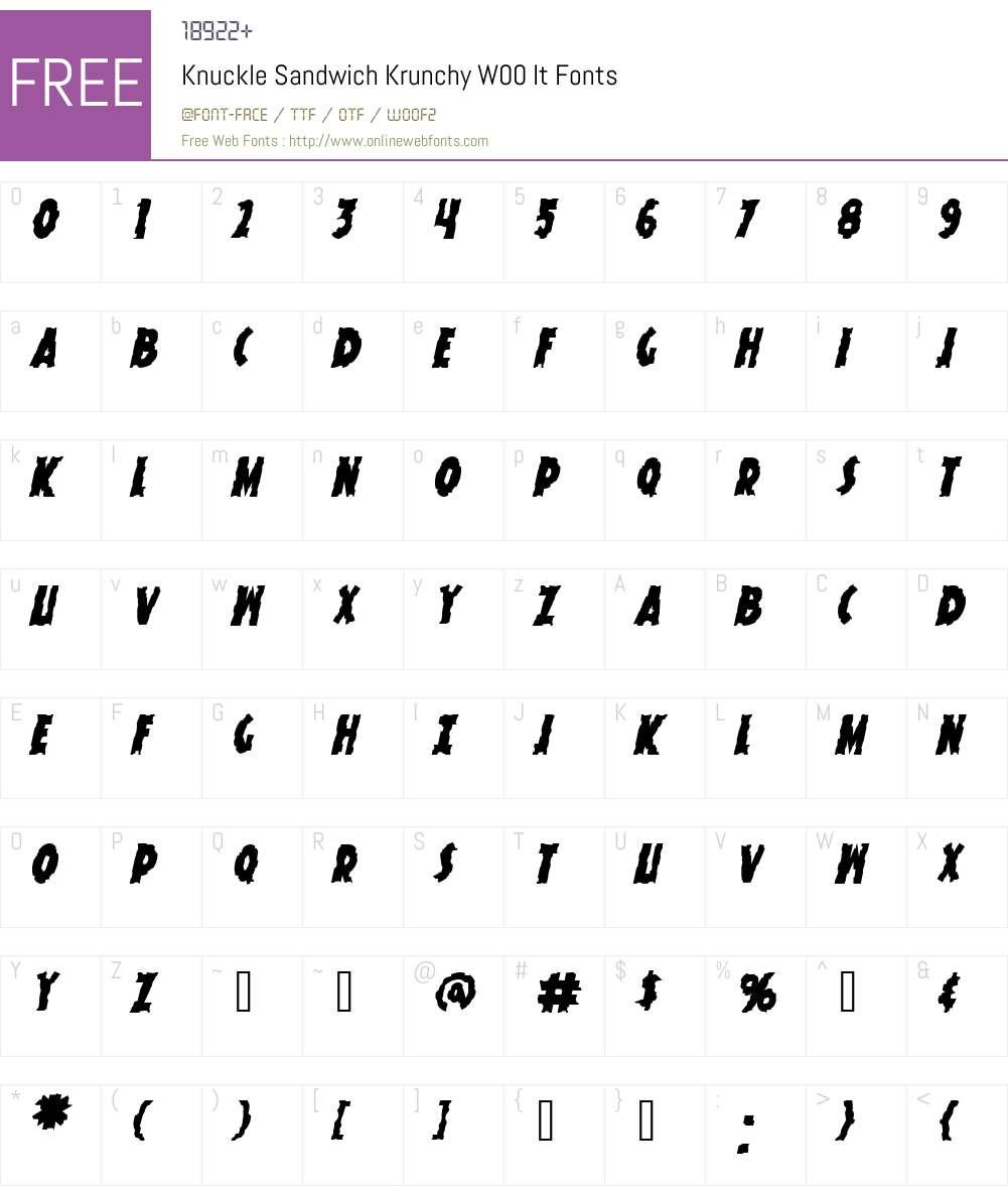 Knuckle Sandwich Krunchy Font Screenshots