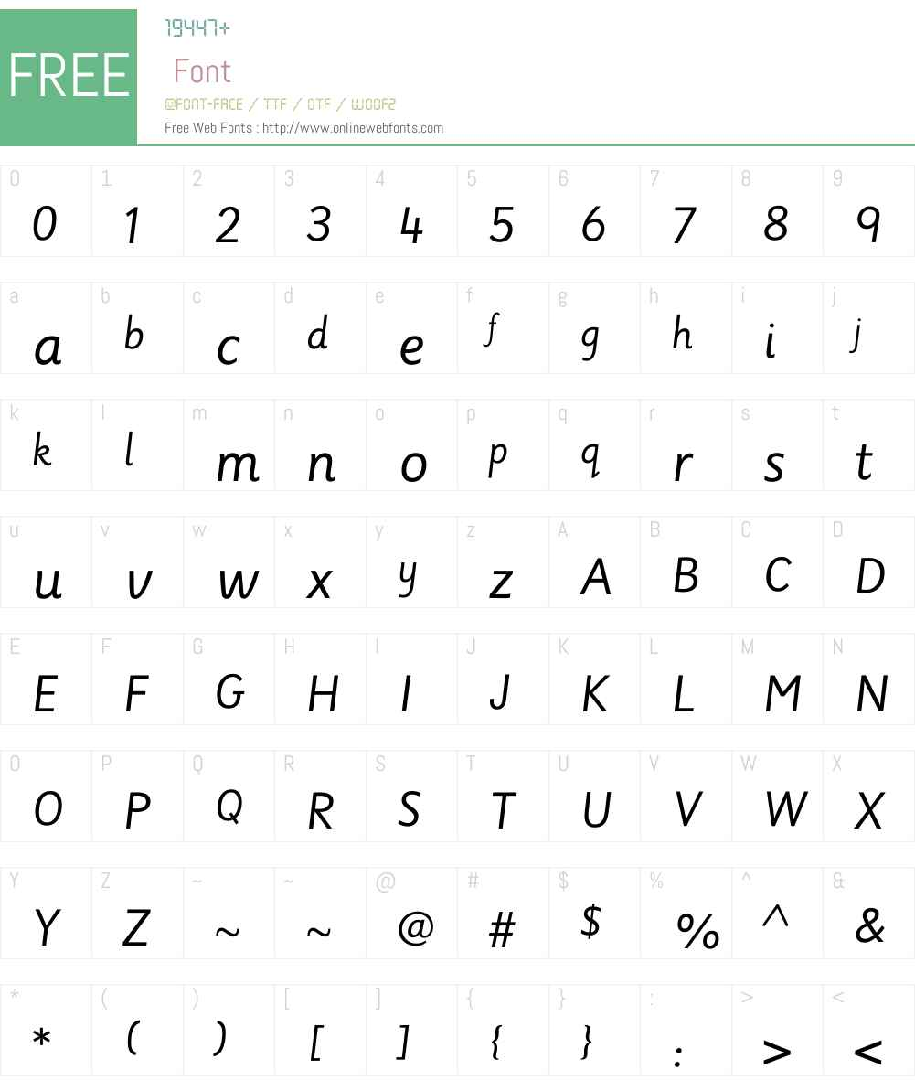 SassoonLinkedENGW00-Regular Font Screenshots