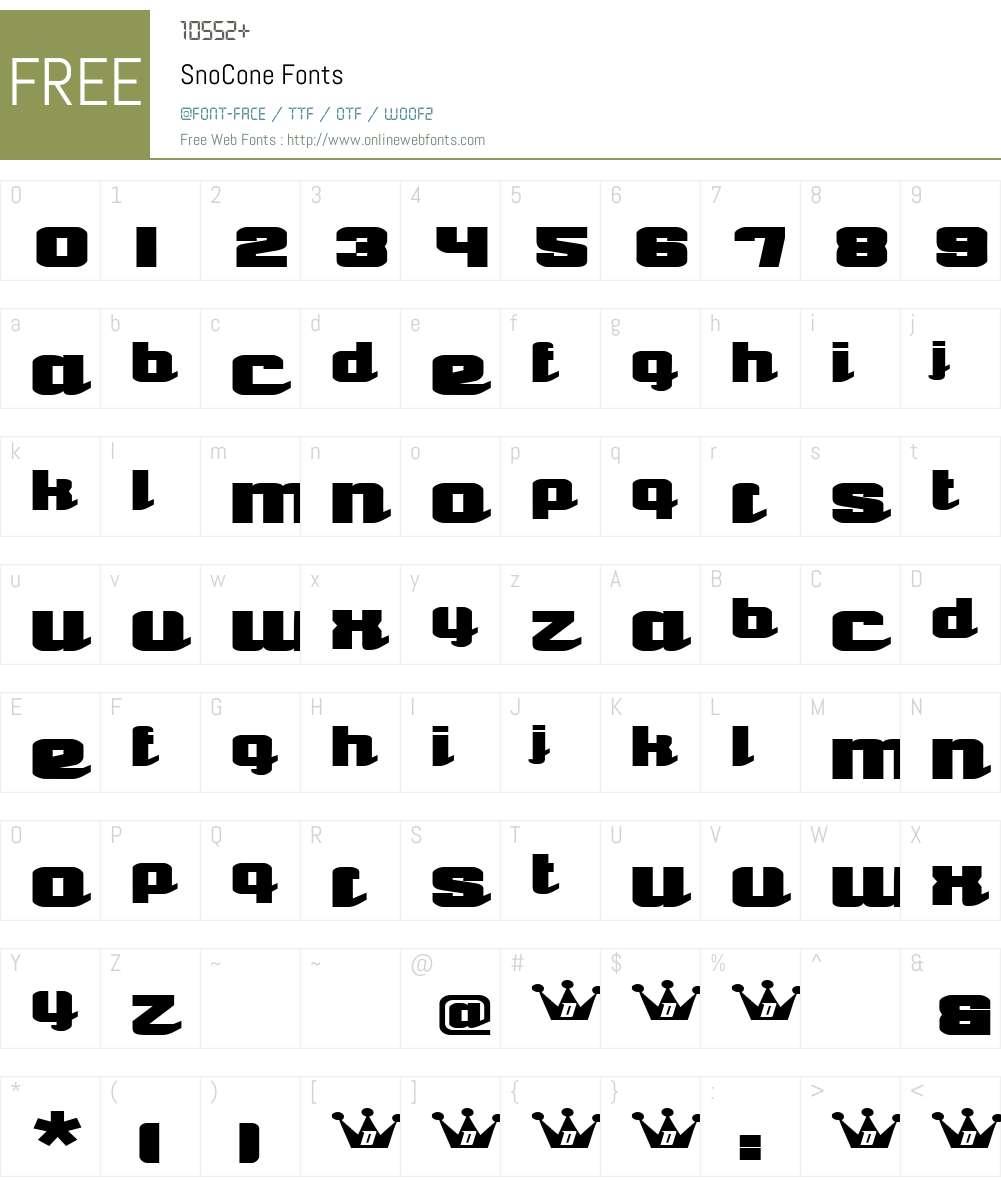 SnoCone Font Screenshots